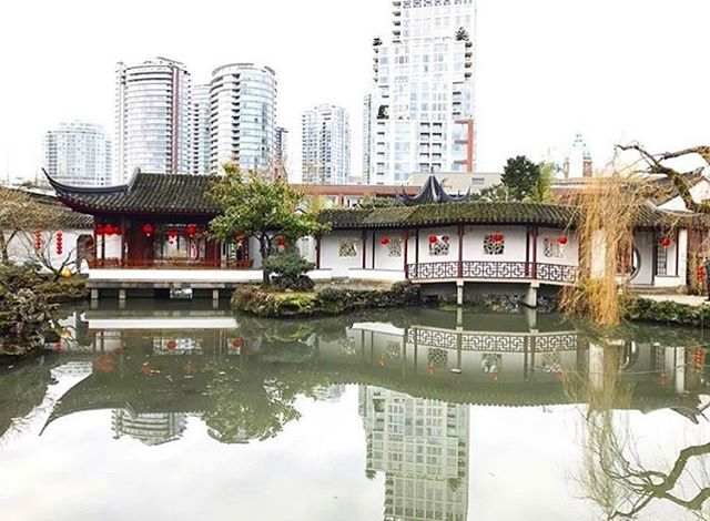 Dr. Sun Yat-Sen Classical Chinese Garden is place of sanctuary nestled in the heart of Vancouver's Chinatown. @turbanoutfitter captured perfectly, the serenity of the garden pictured here during Lunar New Year 🏮