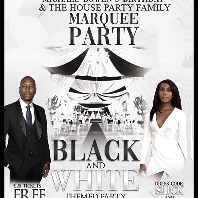 To all scorpios if it's your birthday you will get free entry to the black and white marquee party, All you have to do is have proof off your date of birth and you can come and party with us all night .. MB promotions in conjunction with the house party family always like to give something back . @michaelbowen399