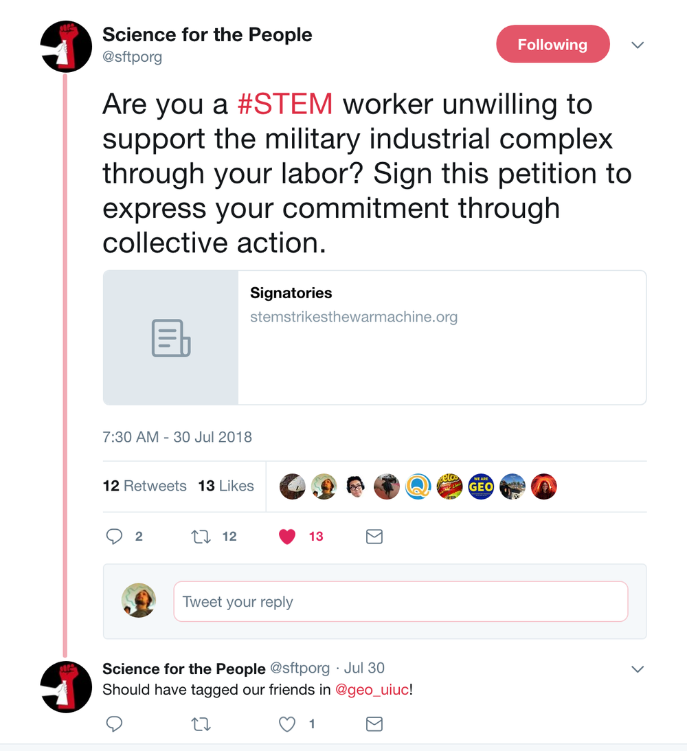Science_for_the_People_on_Twitter___Are_you_a__STEM_worker_unwilling_to_support_the_military_industrial_complex_through_your_labor__Sign_this_petition_to_express_your_commitment_through_collective_action__https___t_co_QWWSnibTyu_.png