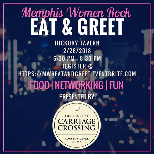 Free networking event with @memphiswomenrock presented by @shopcarriagecrossing Click the link in their bio to register!!