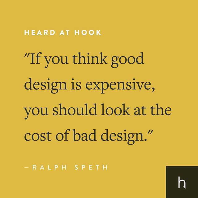 Words of wisdom from our good friend, Ralph Speth. *Full disclosure, we don't know Ralph — but he seems like a stand-up guy. • • • #hookcreative #digitalagency #agencylife #agency #marketing #design #creativeagency #advertising #branding #downtownsgf