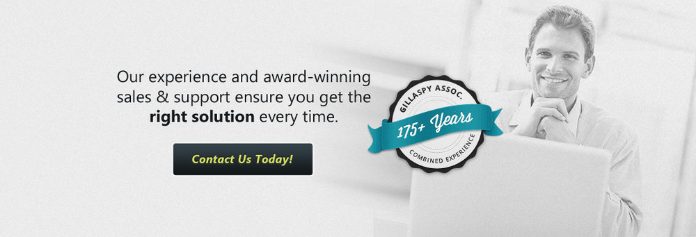 Our experience and award-winning sales & support ensure you get the right solution every time.  Contact Us Today!