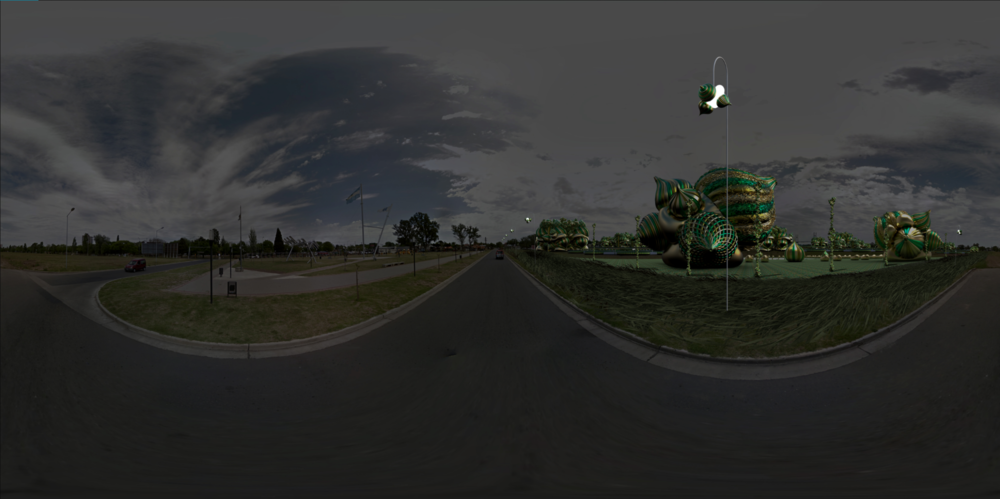 Raw 360 Degree Street View 03: North East Side Night View
