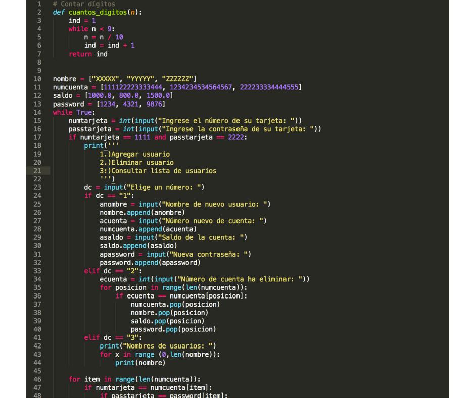 Código en Python!
