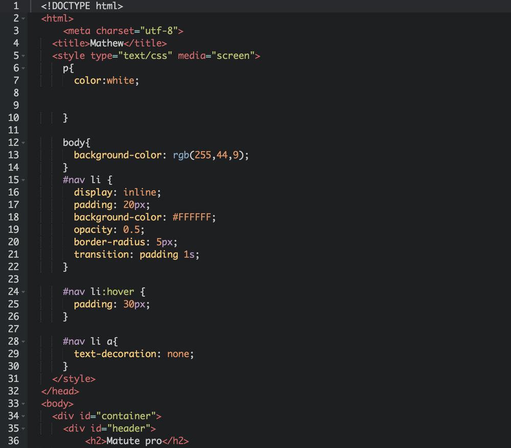 ¡El código de Mathew!