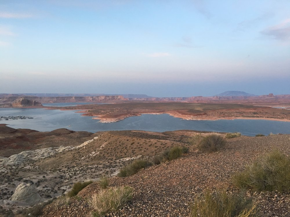 A view of Lake Powell from the Wahweap Overlook