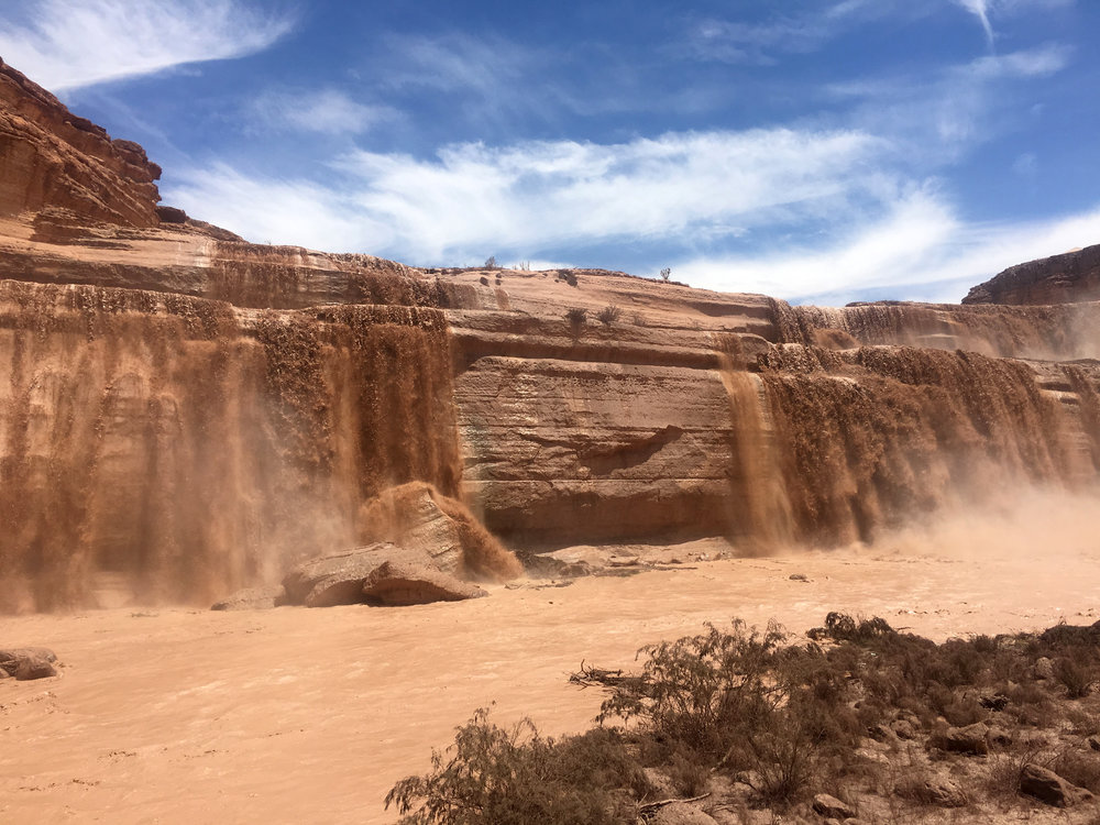Grand Falls northeast of Flagstaff, Arizona on Navajo Land in the Painted Desert.