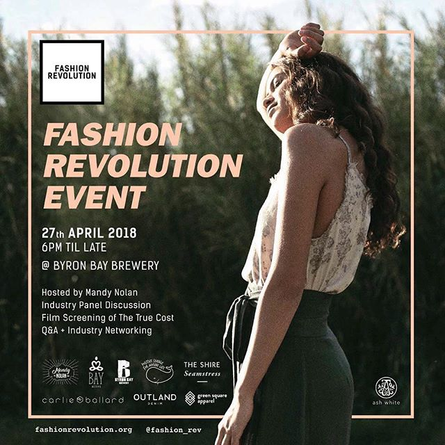 Friday night we are coming together to raise awareness and funds in order to improve the lives of over 75million garment workers.  We want transparency from brands & the industry.  We want a future free from exploitation, abuse and unsafe working conditions.  This is the true cost of brands not auditing their supply chain & being driven by cost prices.  This is human cost, we need to value social profit equal to financial profit and create a future we all can enjoy living in free from poverty and exploitation @fash_rev // Big thank you to our friend @myarkadia and @ashwhite_thelabel for this beautiful artwork. Join us! Friday, 6pm - The Byron Bay Brewery @bay.active @theshireseamstress @fash_rev_ausnz @positivechangeformarinelife @carlie_ballard @outlanddenim