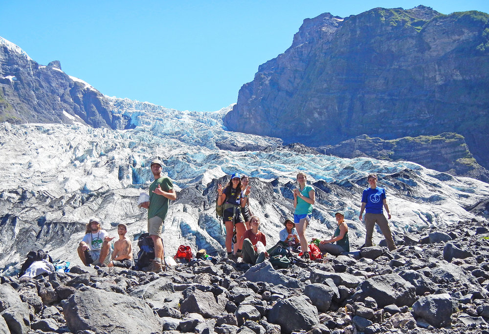 WS Chile students hanging out at glacier W2015.jpg