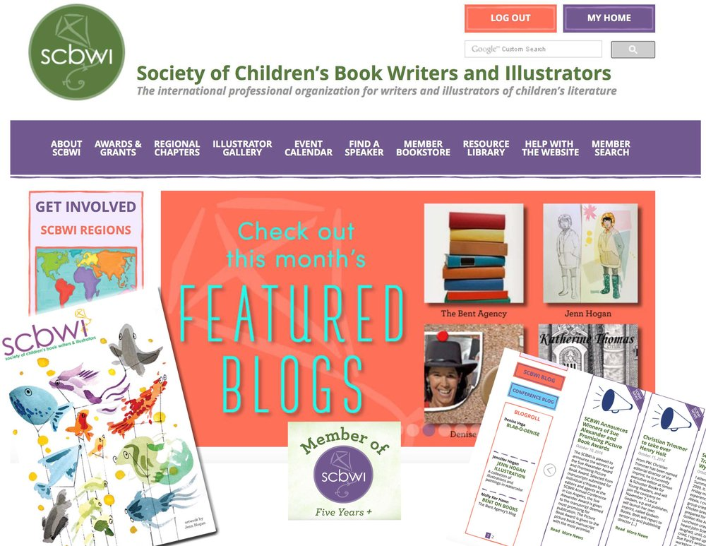 Society of Children's Book Writers and Illustrators: - Featured illustration blogPostcard Contest winner