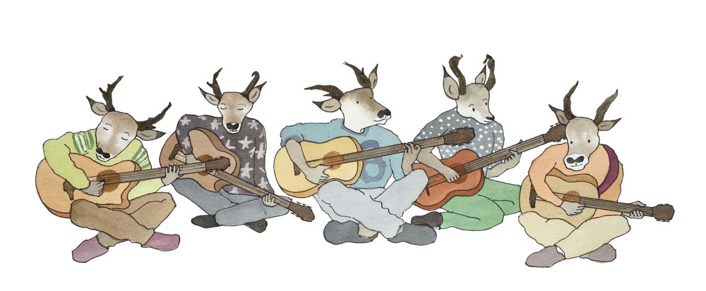 Antelope Jam Band - They're antelopes. They're in a band. They wear…crocs…?