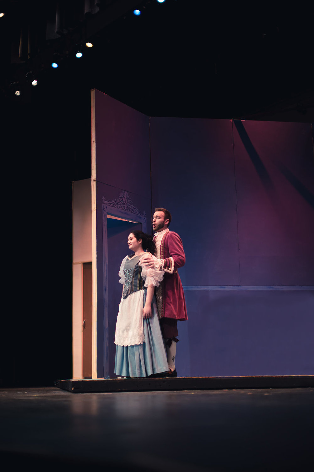 Susanna in University of California, Santa Barbara's production of  Le nozze di Figaro , 2018 Photo by Zachary Mendez