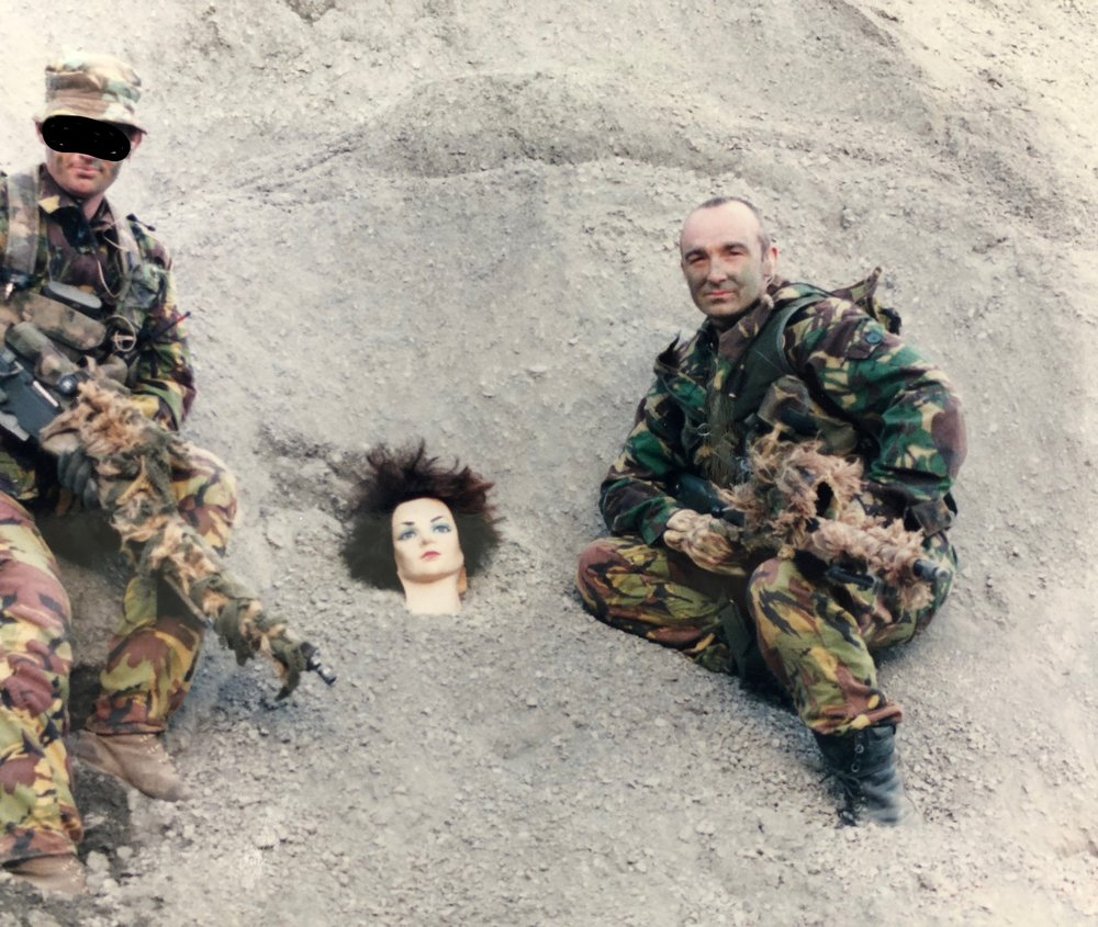 The story to this pic is around clear communications - Thats a mannequin head in the sand - just saying