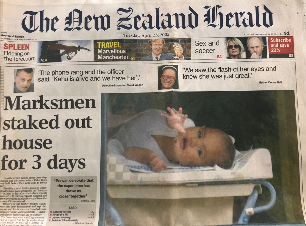 Learn about this hostage rescue - Baby Kahu, snatched from the streets of Wellington. A ten day hostage drama and a 3 million ransom. A story that gripped the nation. Hear how it all ends and the lessons learnt