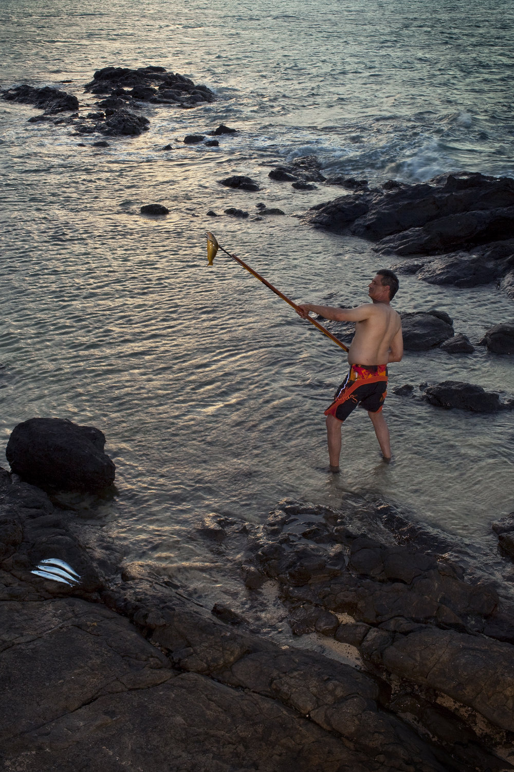Cousin Rob as a Spear Fisherman