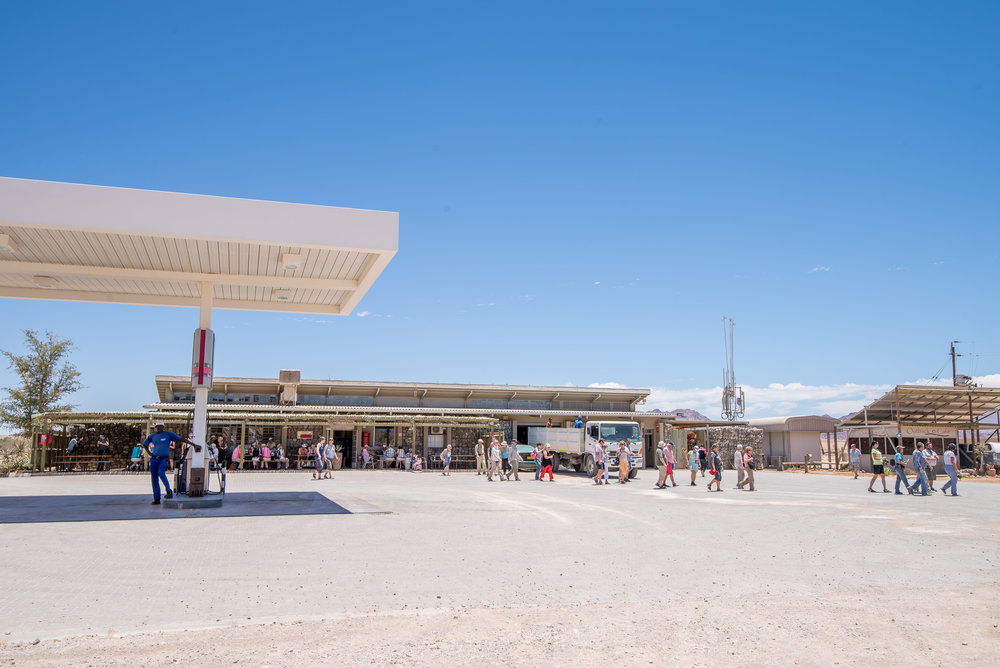The Sossus Oasis Filling Station in Sesriem.