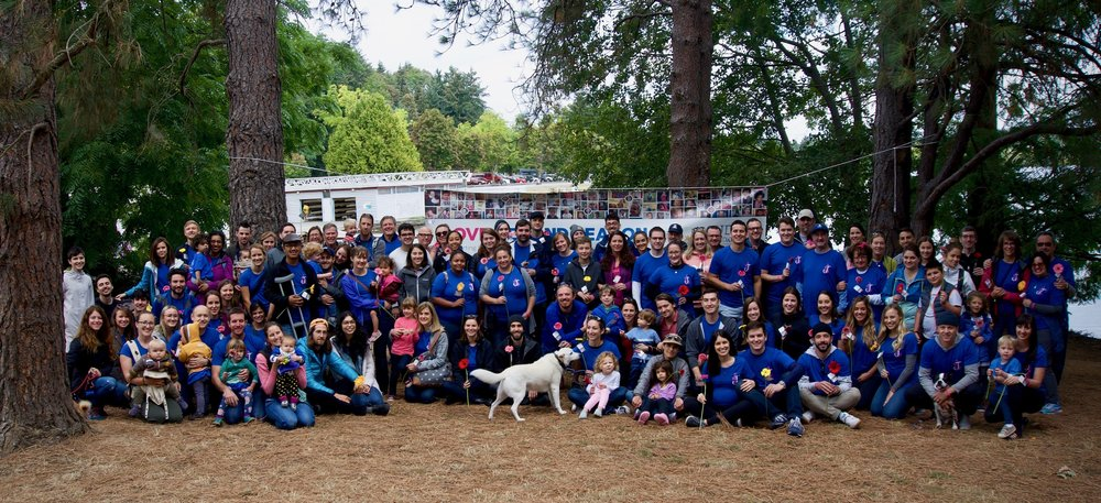 In Seattle, we had about 100 of Jackson's friends and family together for the walk.
