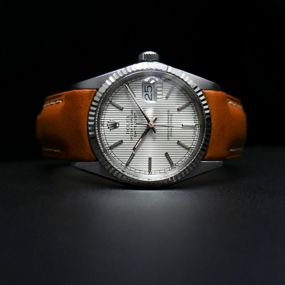 Everest Leather strap - Tan   https://www.watchvault.com.au/strapstore/everest-leather-strap-for-rolex-datejust-gmt-and-sub-w/-tang-buckle