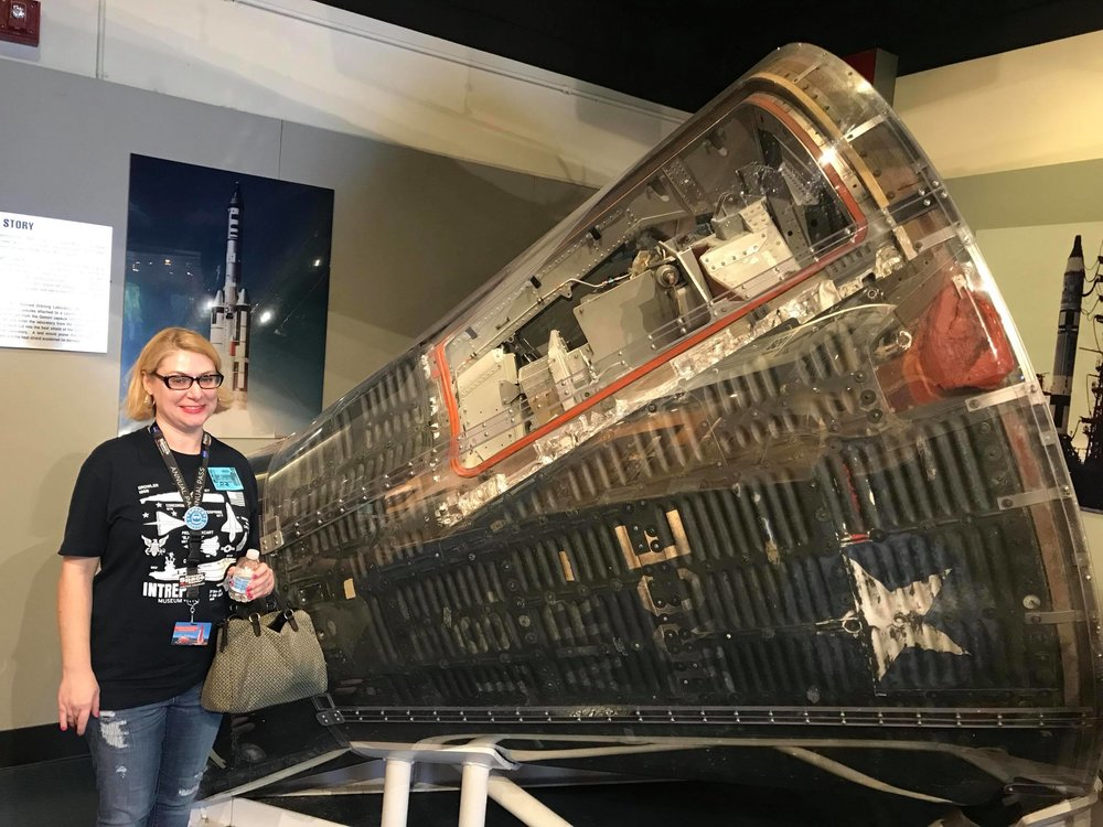 One highlight for Emily was finally getting to see the Gemini 2 capsule! (Photo: Chris Boyd)