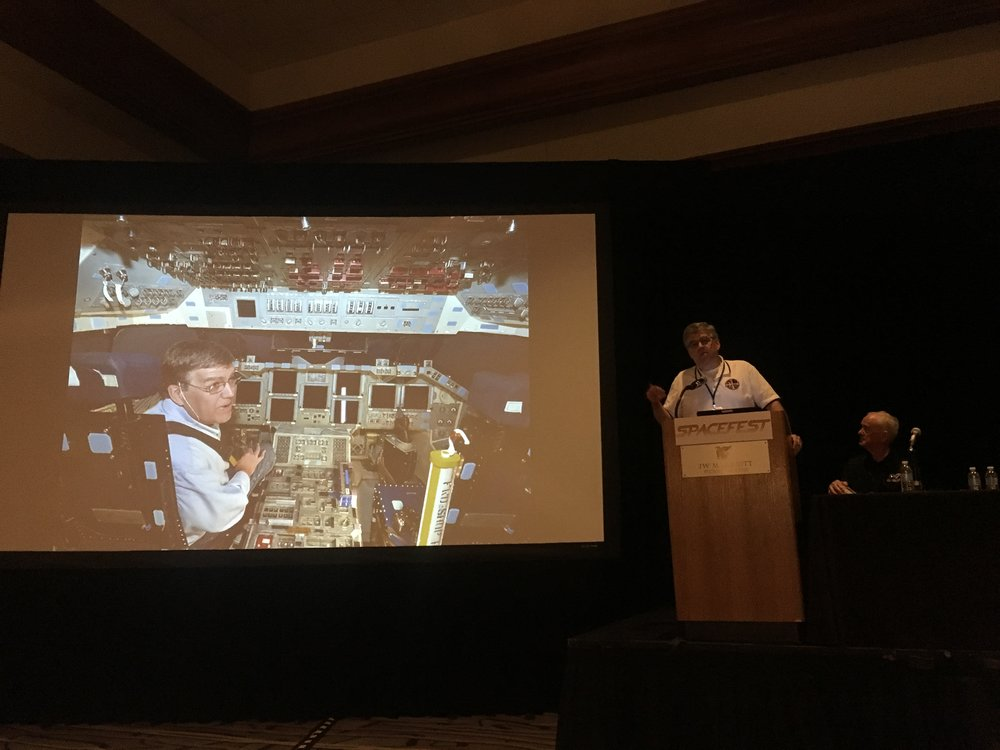 Rick Houston tells the story of how he got to visit the flight deck of Atlantis.