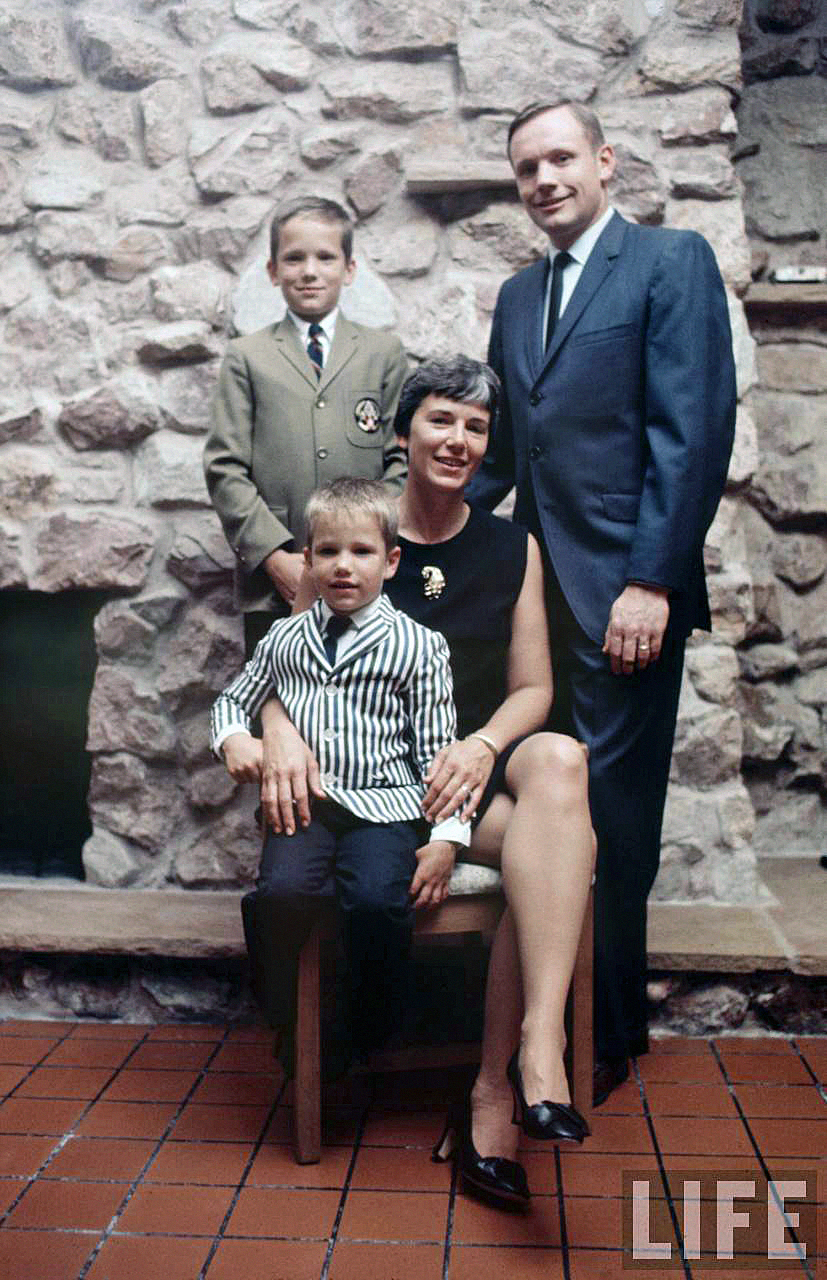 The real Armstrong family. (Photo: LIFE)