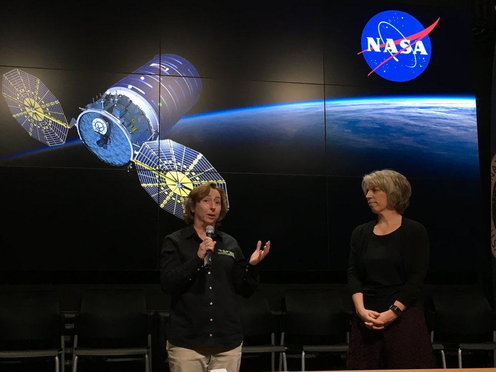 Liz Warren of ISS National Lab and Tara Ruttley of NASA describe experiments such as MVP Cell-05.