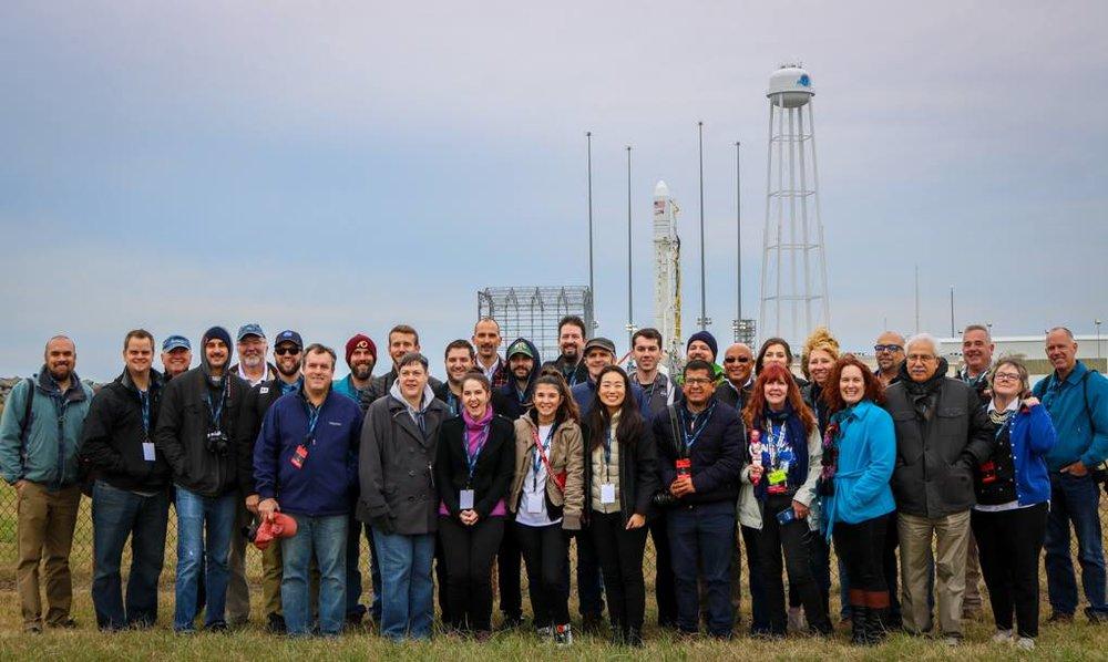 NASA Social group photo at the launchpad. (Photo: Jarin Chu)