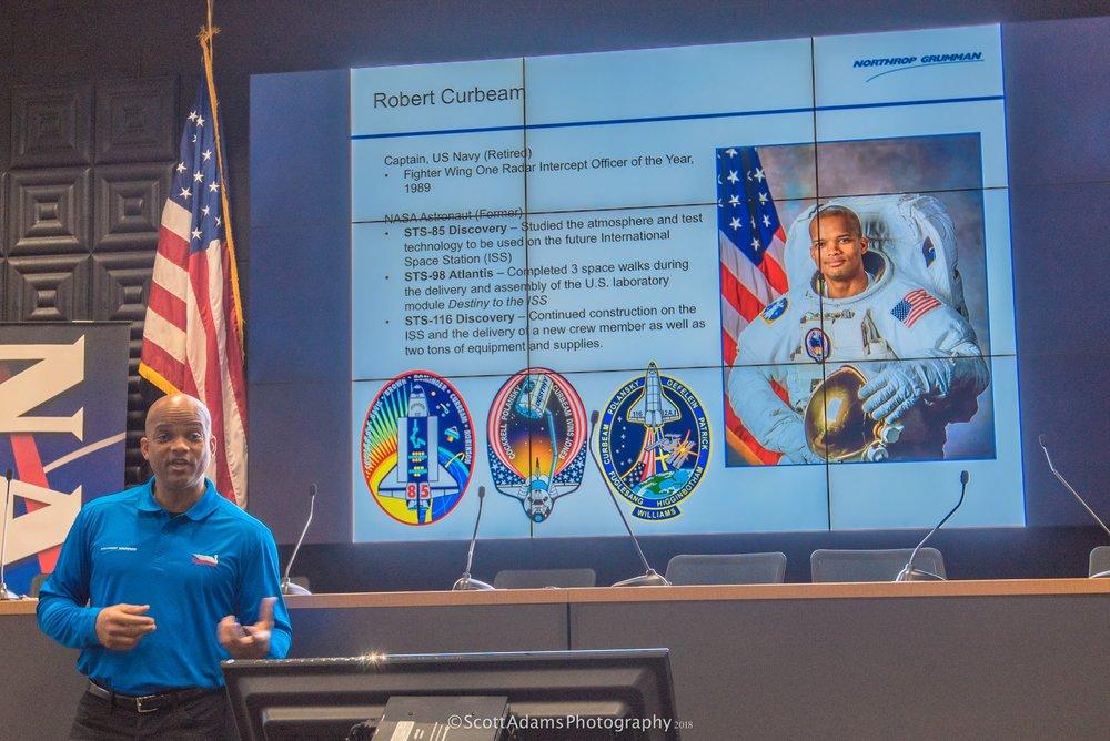 Robert Curbeam of Northrop Grumman. (Photo: Scott Adams)