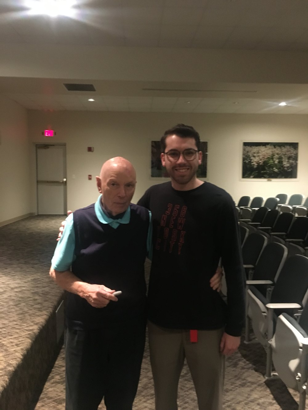 Story Musgrave and the Author, following the former's presentation.