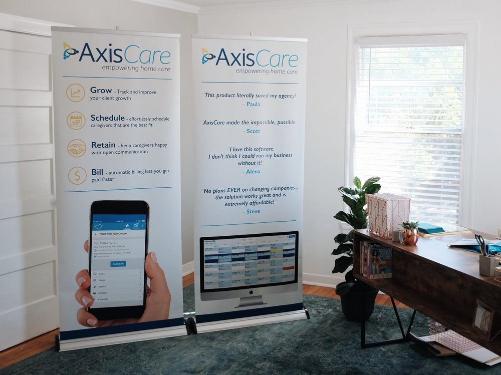 Conference Banners for AxisCare showcase booth