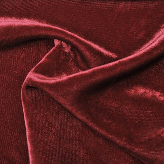 - Material:Red Red Wine is a silky soft vintage velvet with a viscose reverse.100% Rayon, unlined in an 11oz weightMade in USA | Limited Edition
