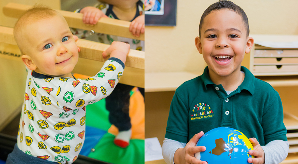 12 weeks to 12 years - Wonderland Montessori accommodates infants to 12 year olds. Our campuses include splash-pads, first in class learning materials, and most importantly a caring team.