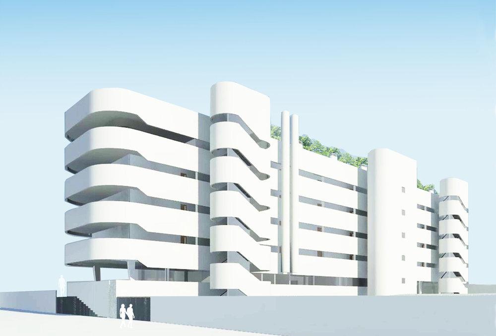 Vitápolis building in Toledo. Spain. Architecture project by Romero Vallejo.