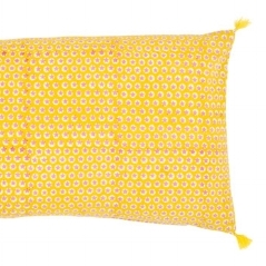 Tuk tuk yellow cushion