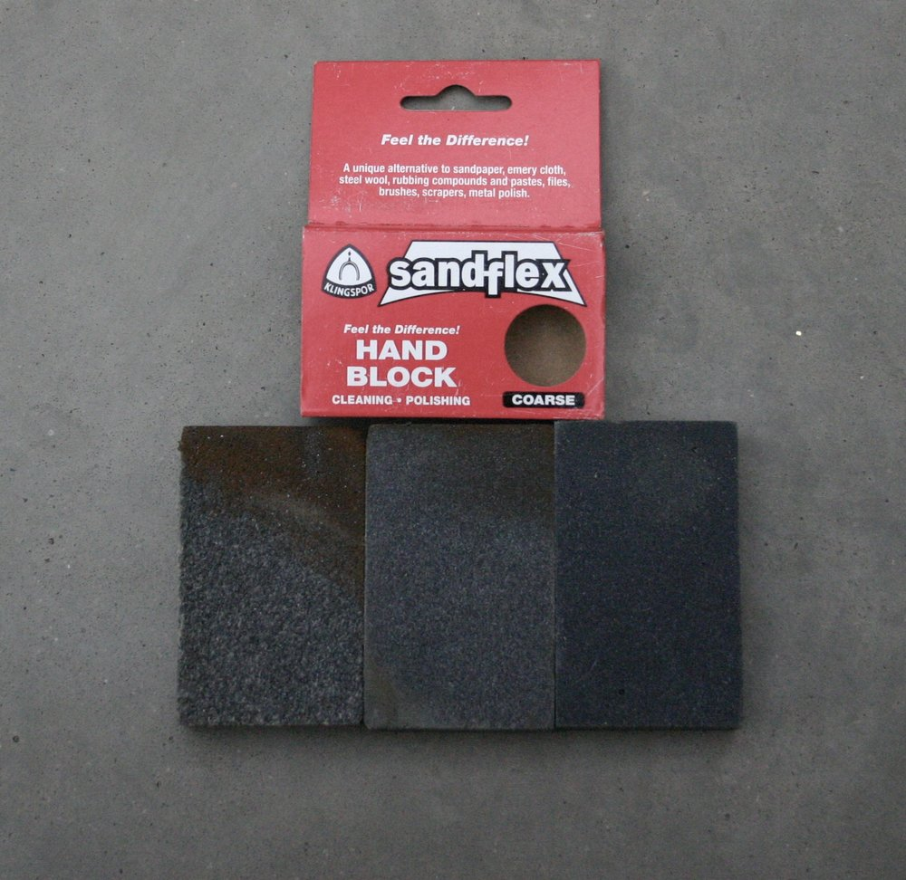 Sandflex blocks in coarse, medium and fine