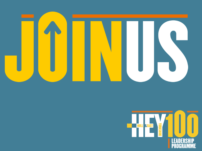 Come and join us for the launch of HEY100!  - 26 January, 10:30 - 13:30DoubleTree by HiltonHull