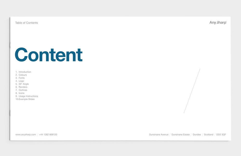 AnySharp Brand Book - Contents