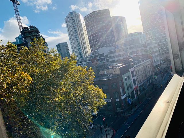 View from a sunny but cold Whitechapel.