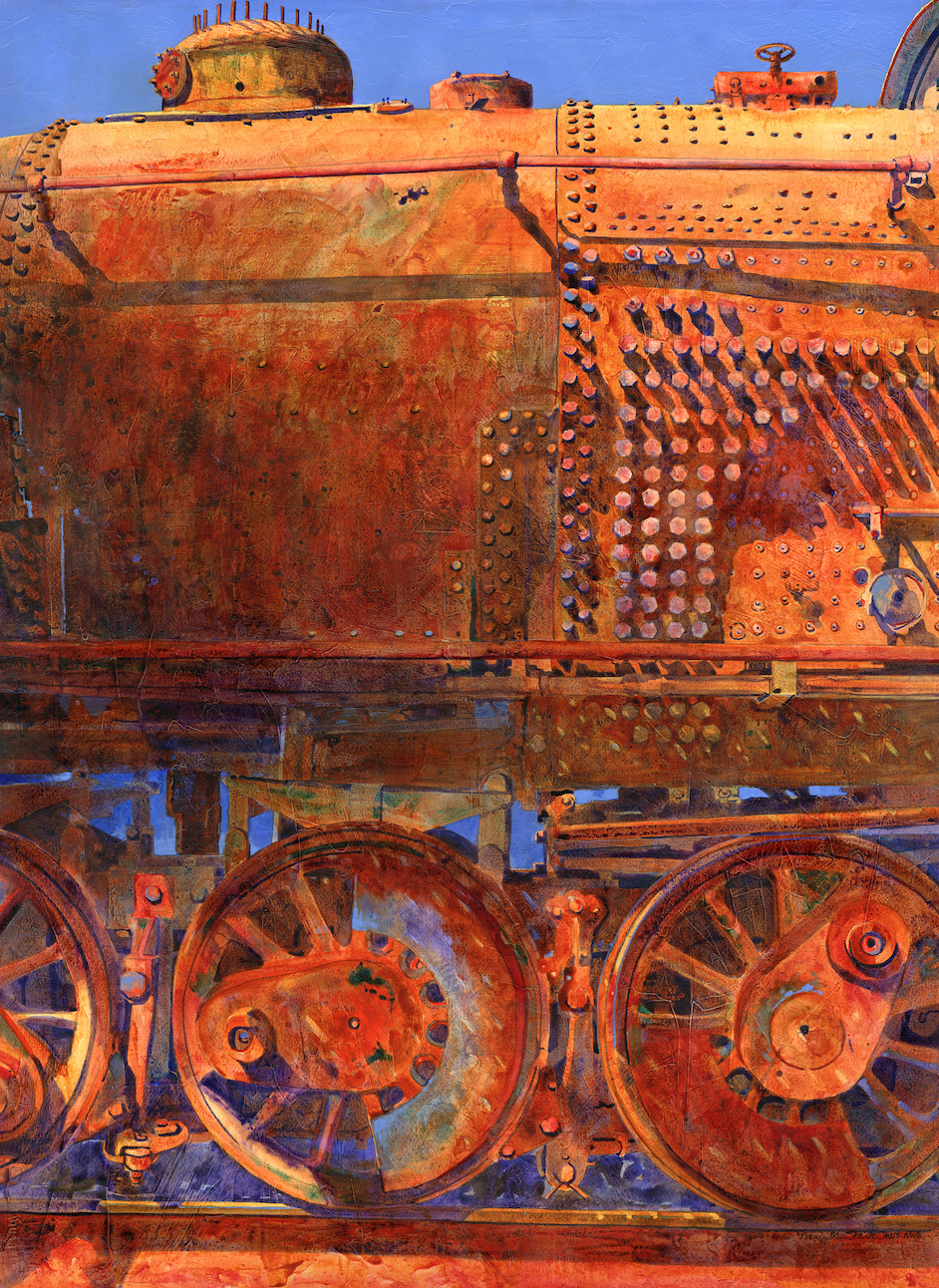 Rusting in Roanoke   2016 Juror's Choice Award  Central Virginia Watercolor Society Charlottesville, Virginia