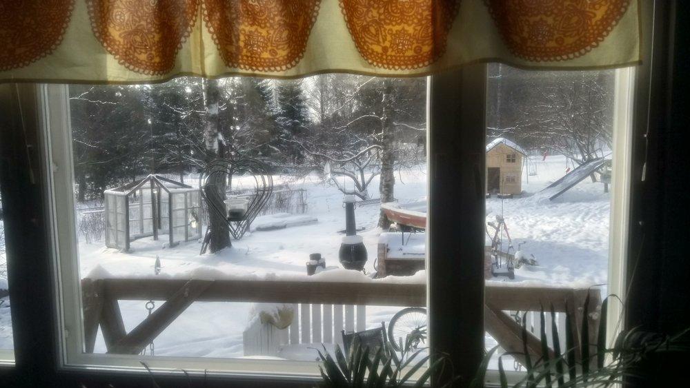 Kaunis talvinen viikonloppu valkeni Lahdessa, mutta me painuimme kellariin nuotteinemme.
