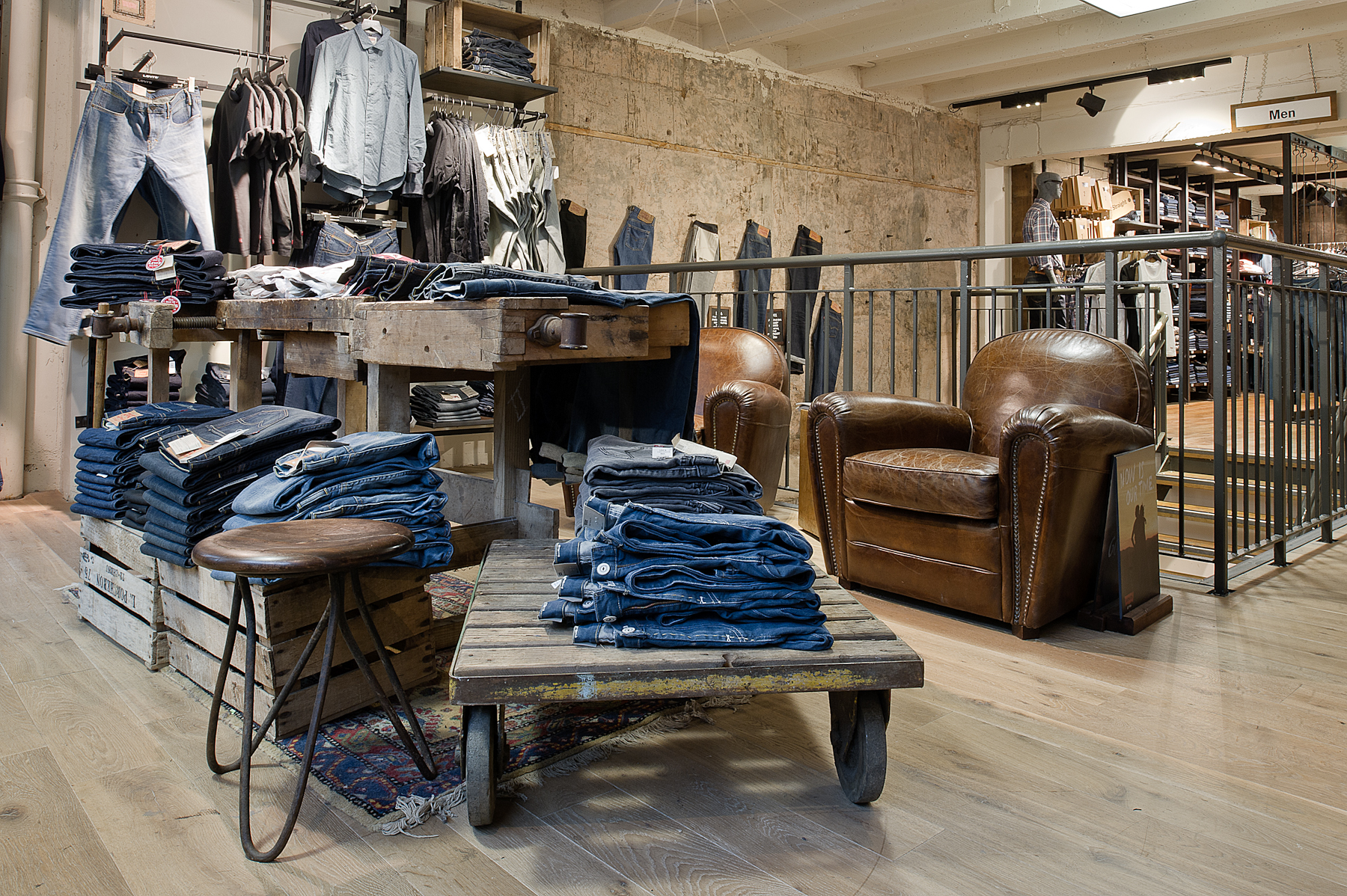 Interior Retail Photography of Levi in Birmingham