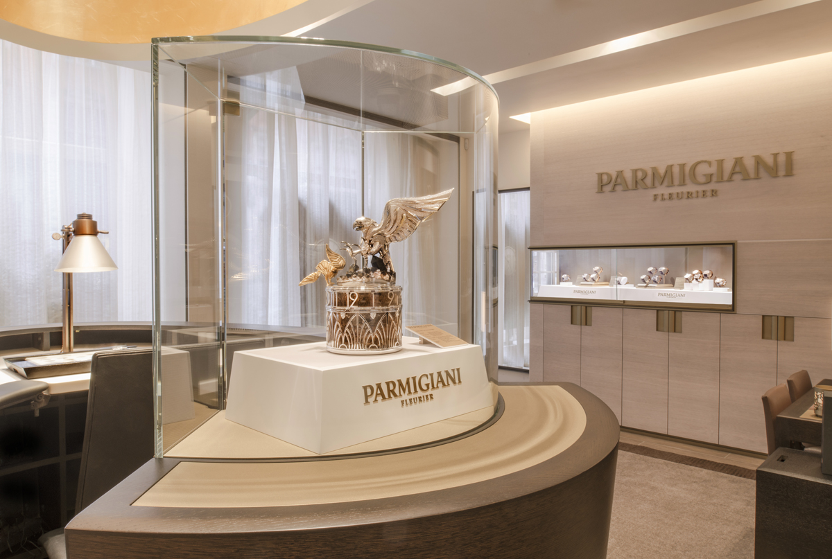 Interior Photograph of Parmigiani Boutique in London