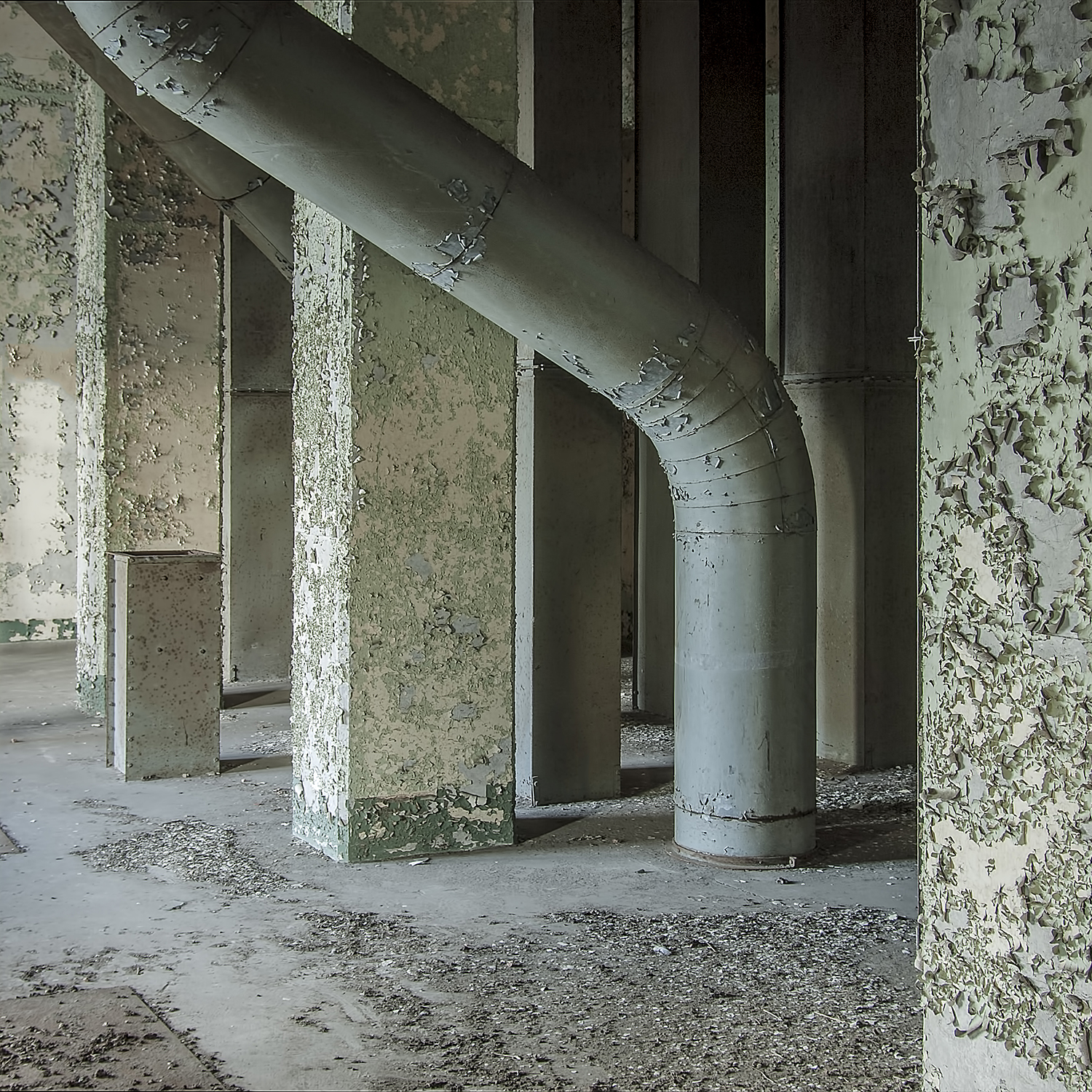 Pipes and Peeling Paint by Interior photographer Nicholas Adams