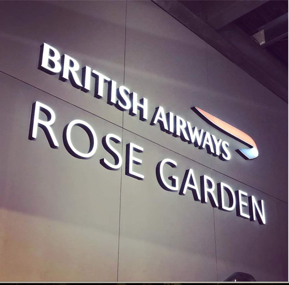 British Airways Rose Garden   Internal Signage - illuminated