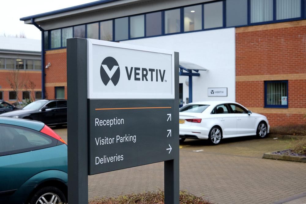 Vertiv   Rebrand - External Signage