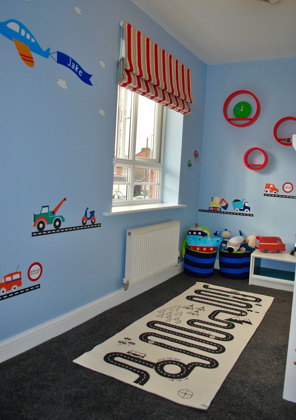 Transport theme bedroom makeover for little boys room kinderoo childrens interiors make a wish uk 3