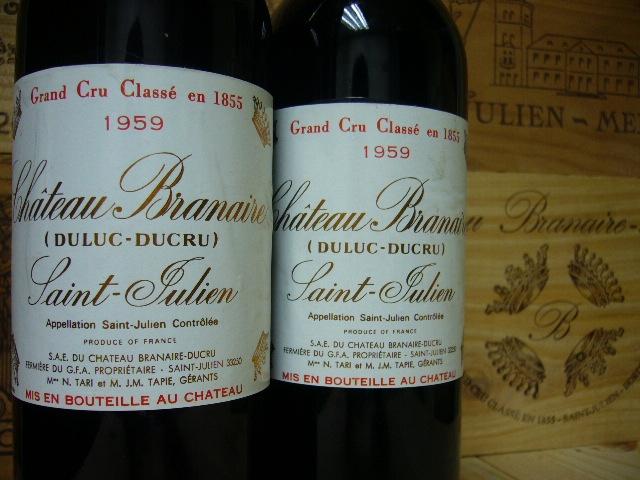Bottles of Branaire-Ducru Saint-Julien appellation Bordeaux Region France