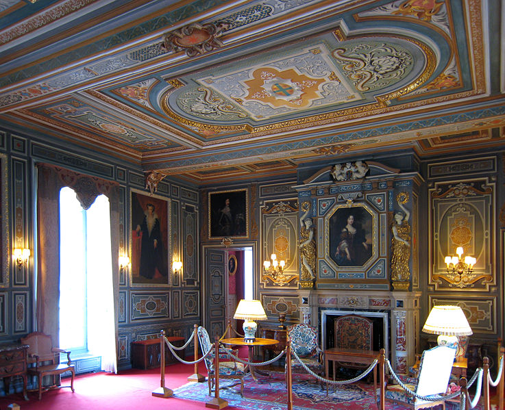 Inside Chateau de Cheverny Loire Valley France