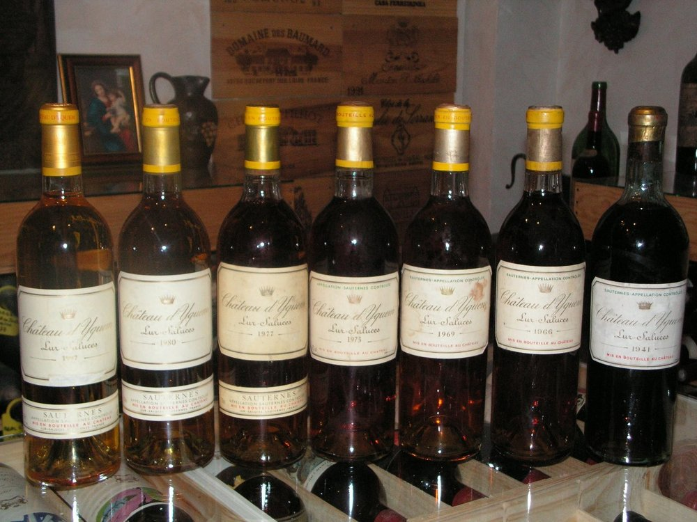 A nice collection of wines from Château d'Yquem | France
