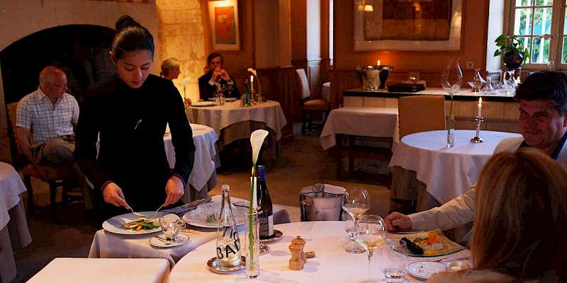 Dining at the Chateau de Marcay
